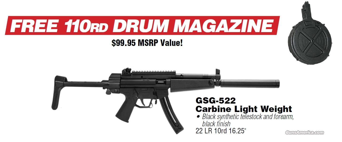 "ATI GSG 522 22LR LW 16"" 10RD MAG & A FREE 110RD DRUM. FREE SHIPPING  Guns > Rifles > American Tactical Imports Pistols"