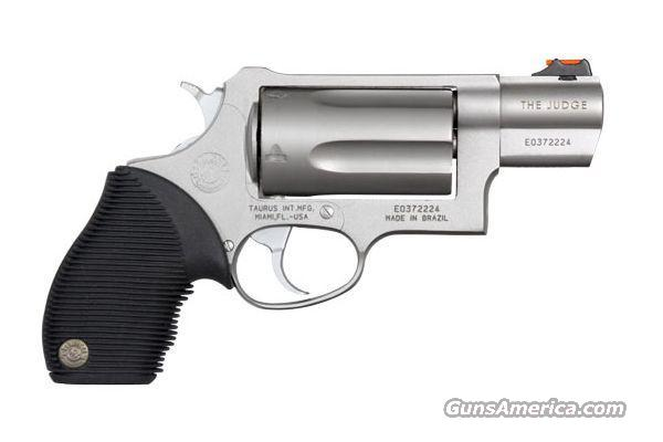 Taurus 45-410 Judge Compact Stainless Steel, Matte  Guns > Pistols > Taurus Pistols/Revolvers > Revolvers