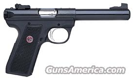 "RUGER 22/45 TARGET .22LR 5.5"" BULL AS BLACK SYNTHETIC  Guns > Pistols > Ruger Semi-Auto Pistols > Mark I & II Family"