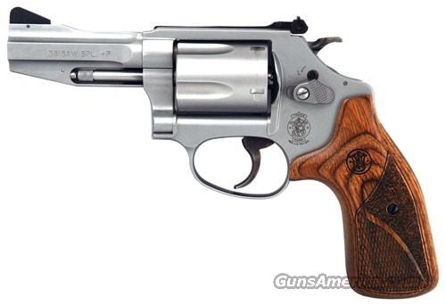 "S&W PRO SERIES 60 .38SPL 3"" AS FRONT NIGHT SIGHT SS WOOD <  Guns > Pistols > Smith & Wesson Revolvers > Performance Center"