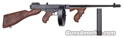 THOMPSON 1927A1 DELUXE .45ACP CARBINE W/50 ROUNDS DRUM & 30RND. MAG.  Guns > Rifles > Thompson Subguns/Semi-Auto