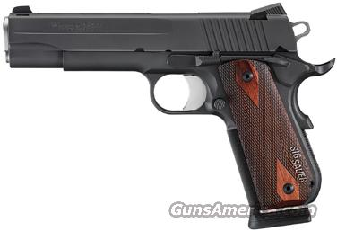 SIG 1911 45ACP FASTBACK BLK NITRON NS ROSEWOOD   Guns > Pistols > Sig - Sauer/Sigarms Pistols > 1911