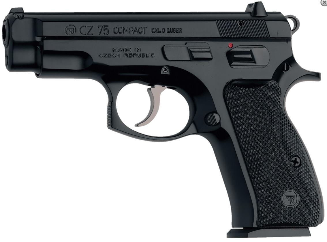 "CZ-75 Compact 9mm 3.9"" 15+1 Black Synthetic Grip Black Finish   Guns > Pistols > CZ Pistols"