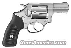 "RUGER SP101 .38SPEC+P 2.25"" FS STAINLESS BLACK RUBBER  Guns > Pistols > Ruger Double Action Revolver > SP101 Type"