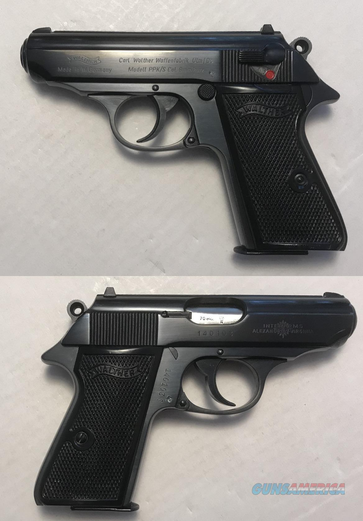 German Walther PPK/S 9mmK (.380acp) Mfg. 1970  Guns > Pistols > Walther Pistols > Post WWII > PPK Series
