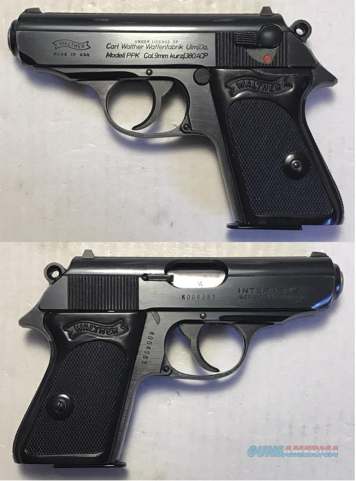 Walther/Interarms Model PPK Blue .380  Guns > Pistols > Walther Pistols > Post WWII > PPK Series