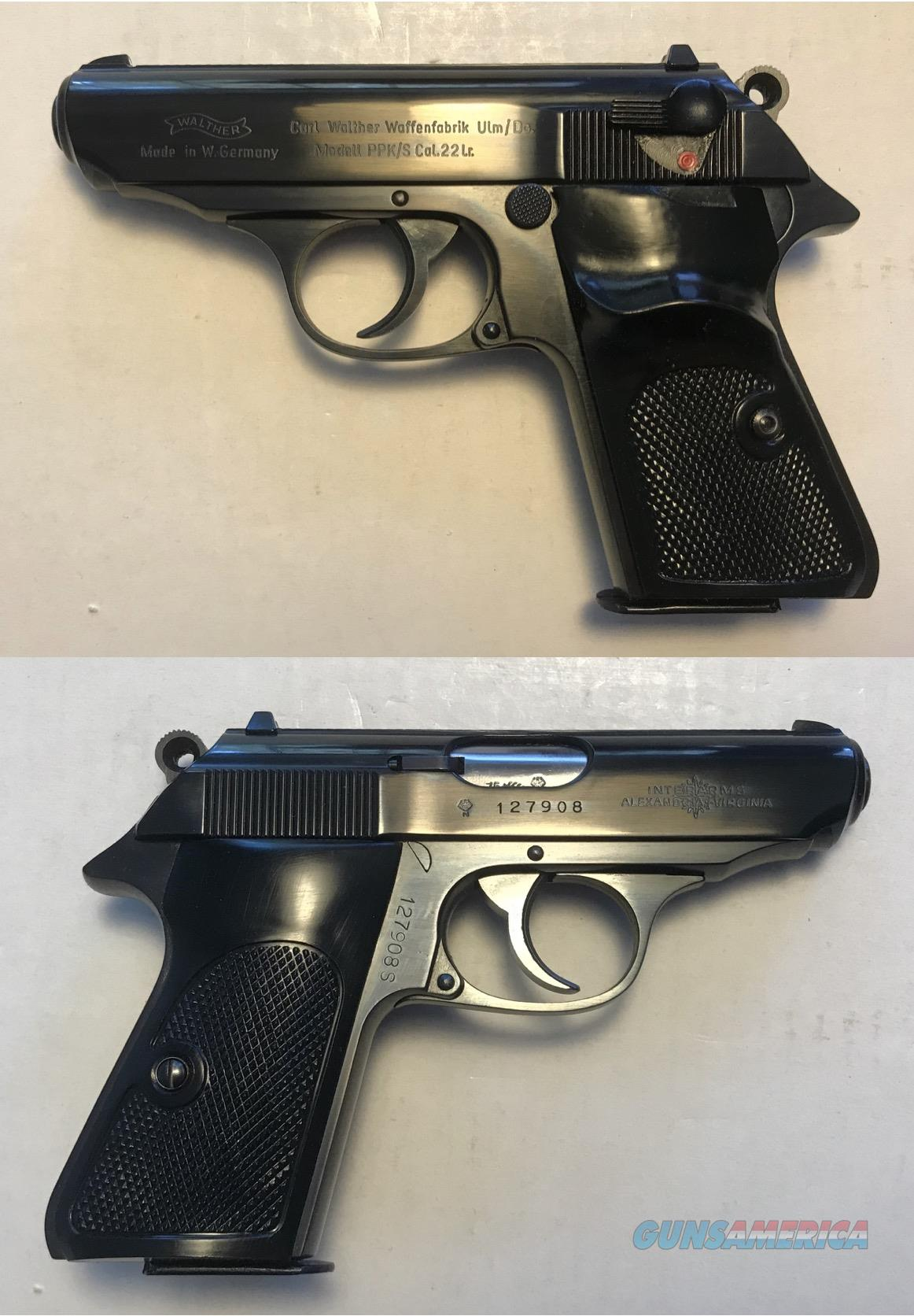 German Walther PPK/S . 22LR Mfg. 1975  Guns > Pistols > Walther Pistols > Post WWII > PPK Series