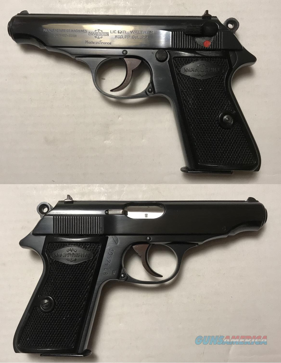 Walther Manurhin PP .22LR .22 C&R   Guns > Pistols > Walther Pistols > Post WWII > PPK Series