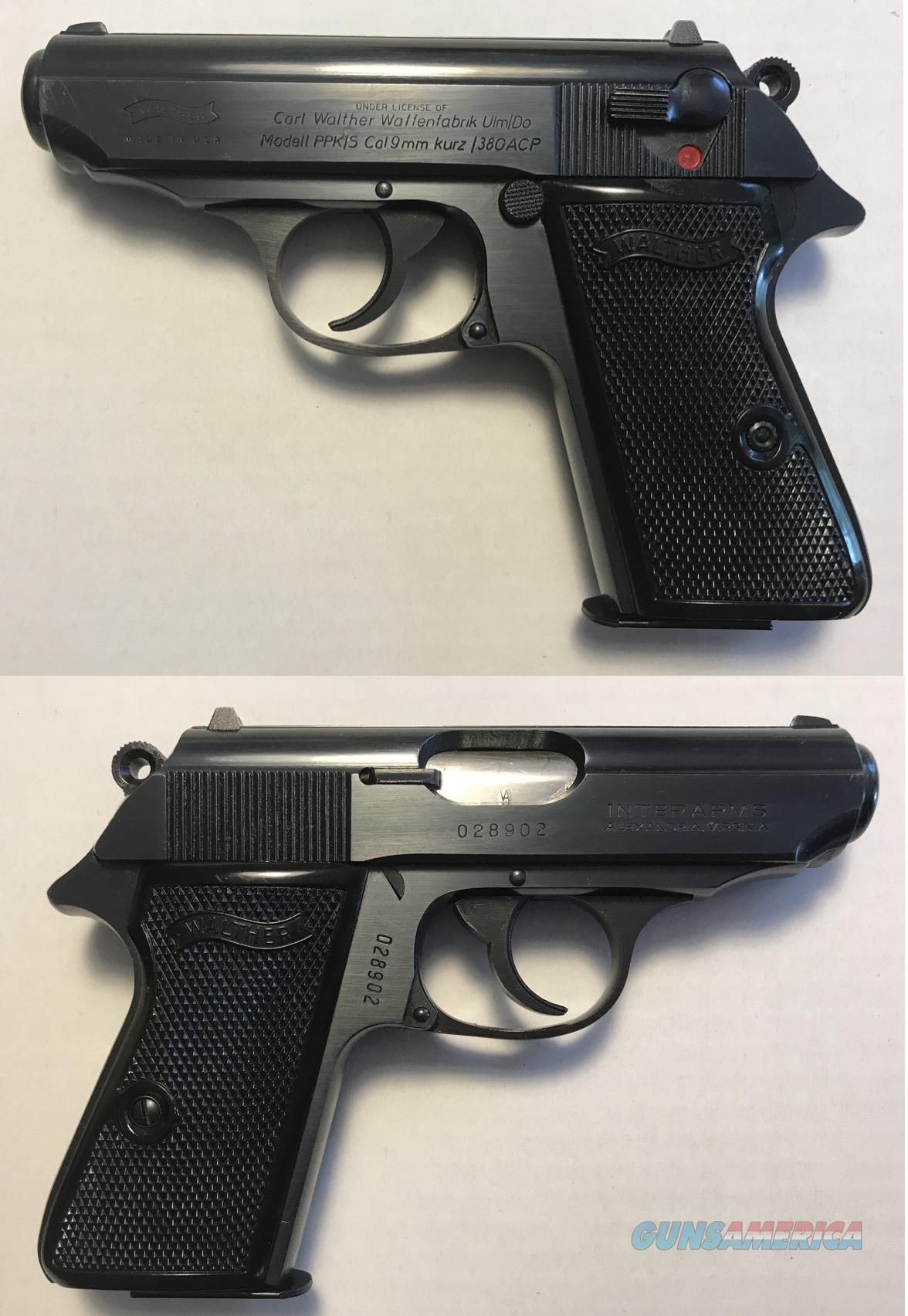 Walther/Interarms Model PPK/S  blue .380  Guns > Pistols > Walther Pistols > Post WWII > PPK Series