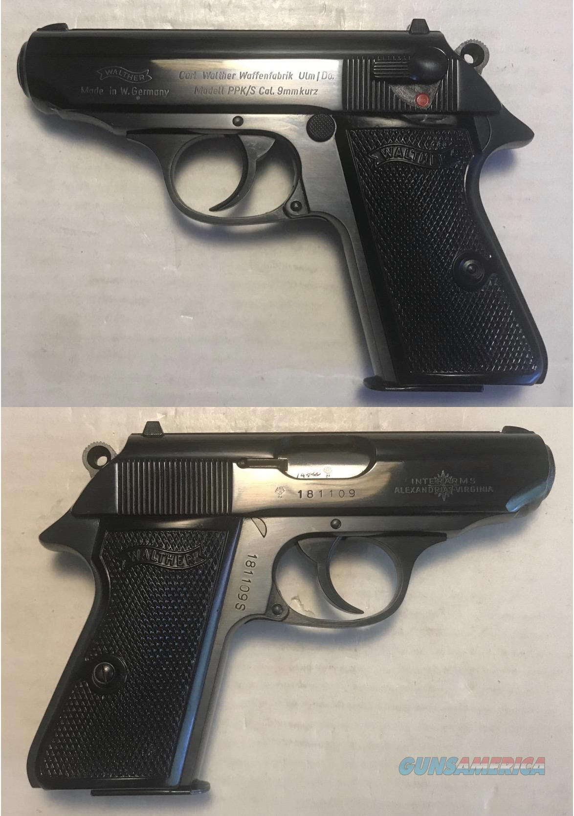 German Walther PPK/S 9mmK (.380acp) Mfg. 1974  Guns > Pistols > Walther Pistols > Post WWII > PPK Series