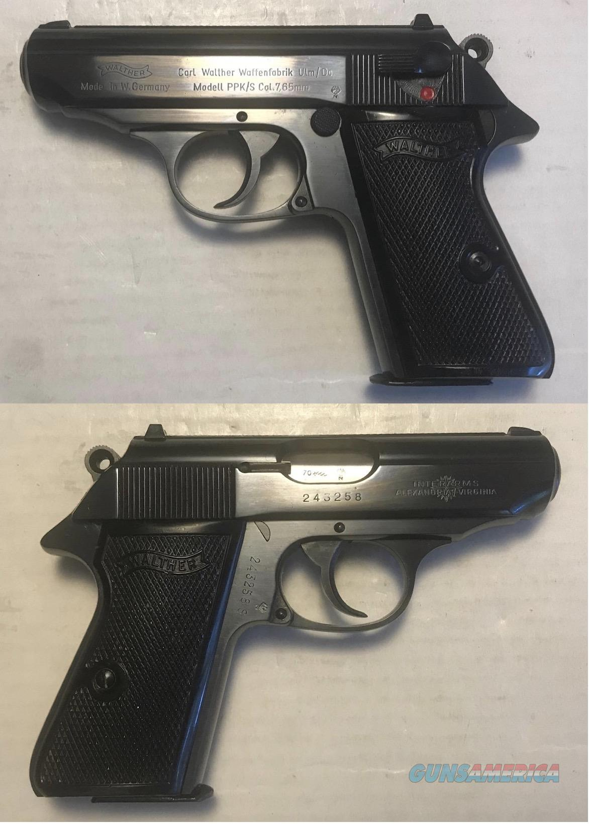 German Walther PPK/S 7.65mm (.32acp) Mfg. 1970  Guns > Pistols > Walther Pistols > Post WWII > PPK Series