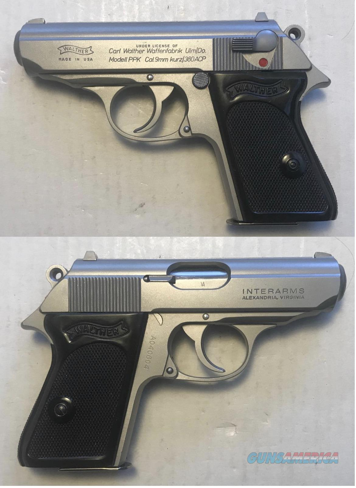 Walther/Interarms Model PPK Stainless .380  Guns > Pistols > Walther Pistols > Post WWII > PPK Series