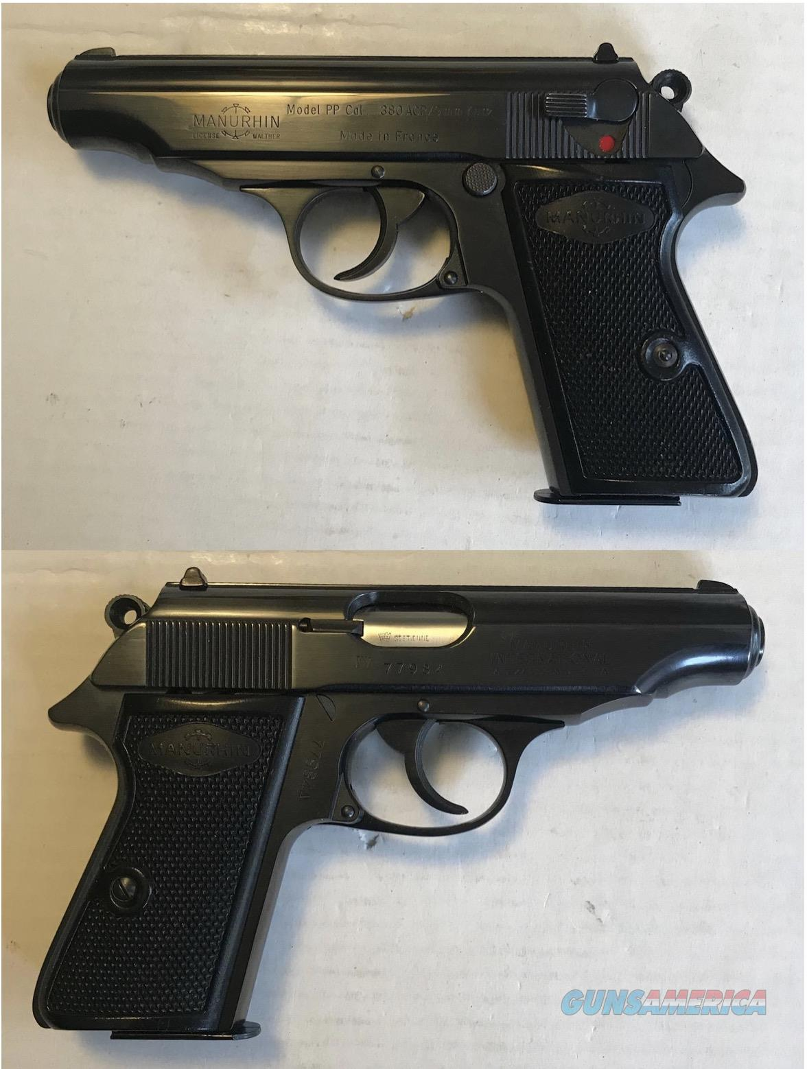 Walther / Manurhin PP 9mmK .380acp C&R  Guns > Pistols > Walther Pistols > Post WWII > PPK Series