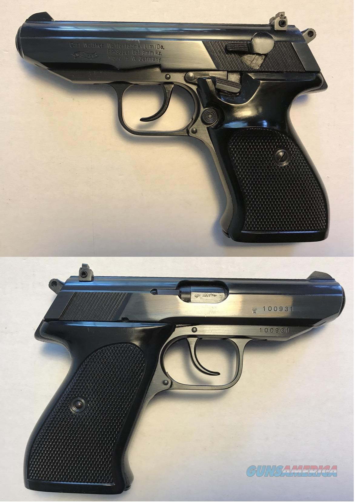 German Walther PP Super .380 9mmK  Guns > Pistols > Walther Pistols > Post WWII > PPK Series