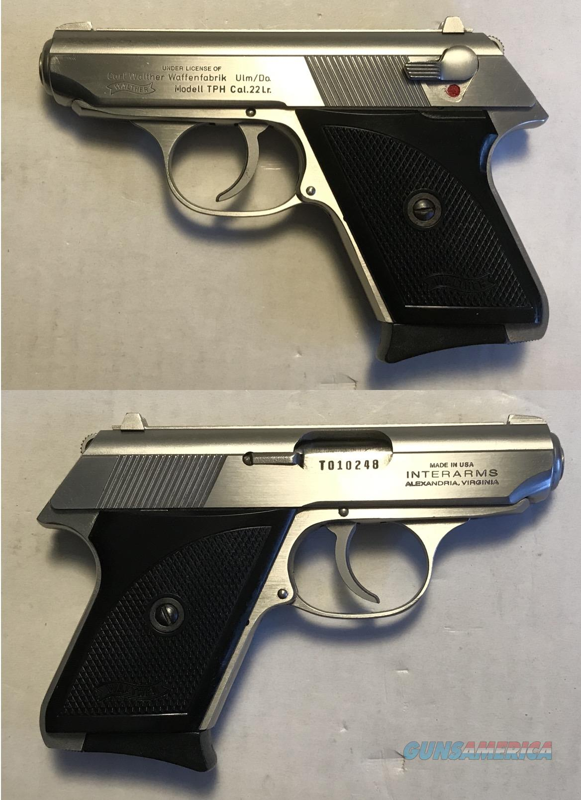 Walther TPH .22LR Stainless  Guns > Pistols > Walther Pistols > Post WWII > PPK Series