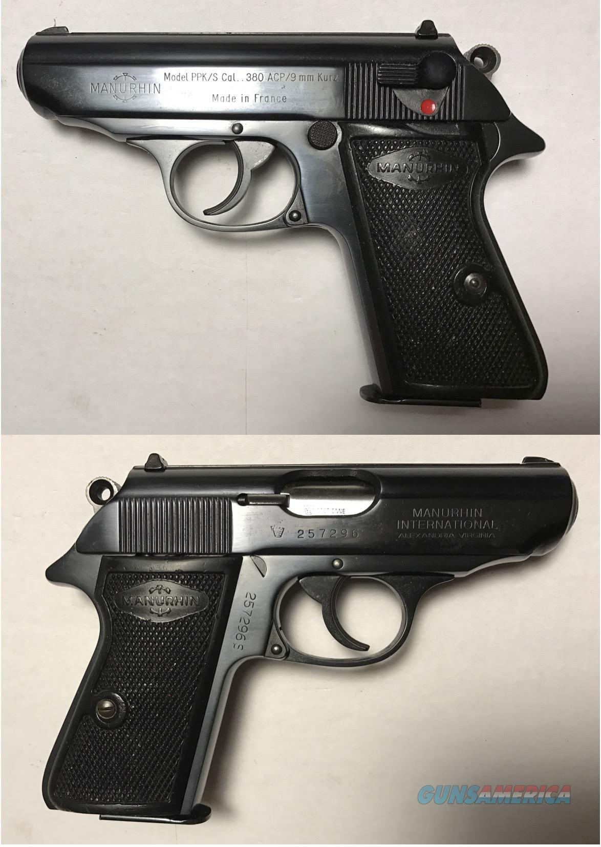Walther/Manurhin Model PPK/S .380acp  Guns > Pistols > Walther Pistols > Post WWII > PPK Series