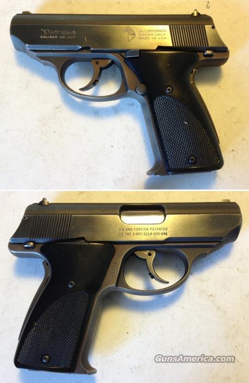A.J. Ordnance Thomas .45acp  Guns > Pistols > TU Misc Pistols