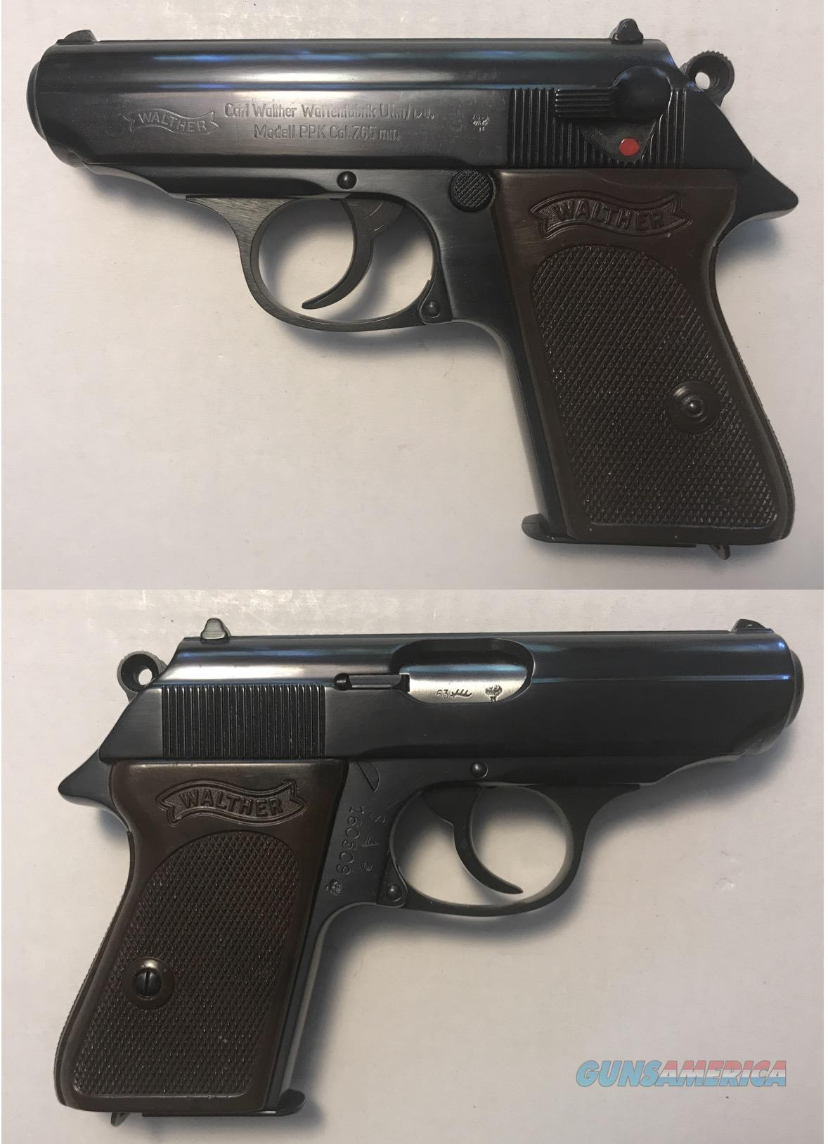 German Walther PPK 7.65mm .32ACP Mfg. 1963 C&R  Guns > Pistols > Walther Pistols > Post WWII > PPK Series