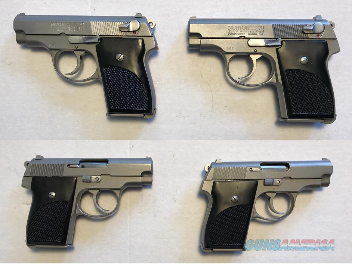 Norton Budischowsky American Arms TP70 - Rare set .22 and .25 same S/N  Guns > Pistols > American Arms Pistols