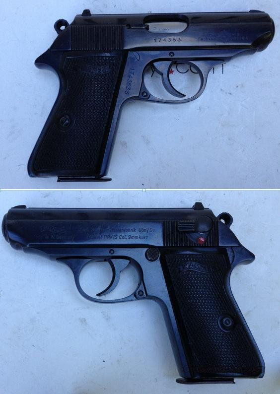 German Walther PPK/S 9mmK (.380)  Guns > Pistols > Walther Pistols > Post WWII > PPK Series