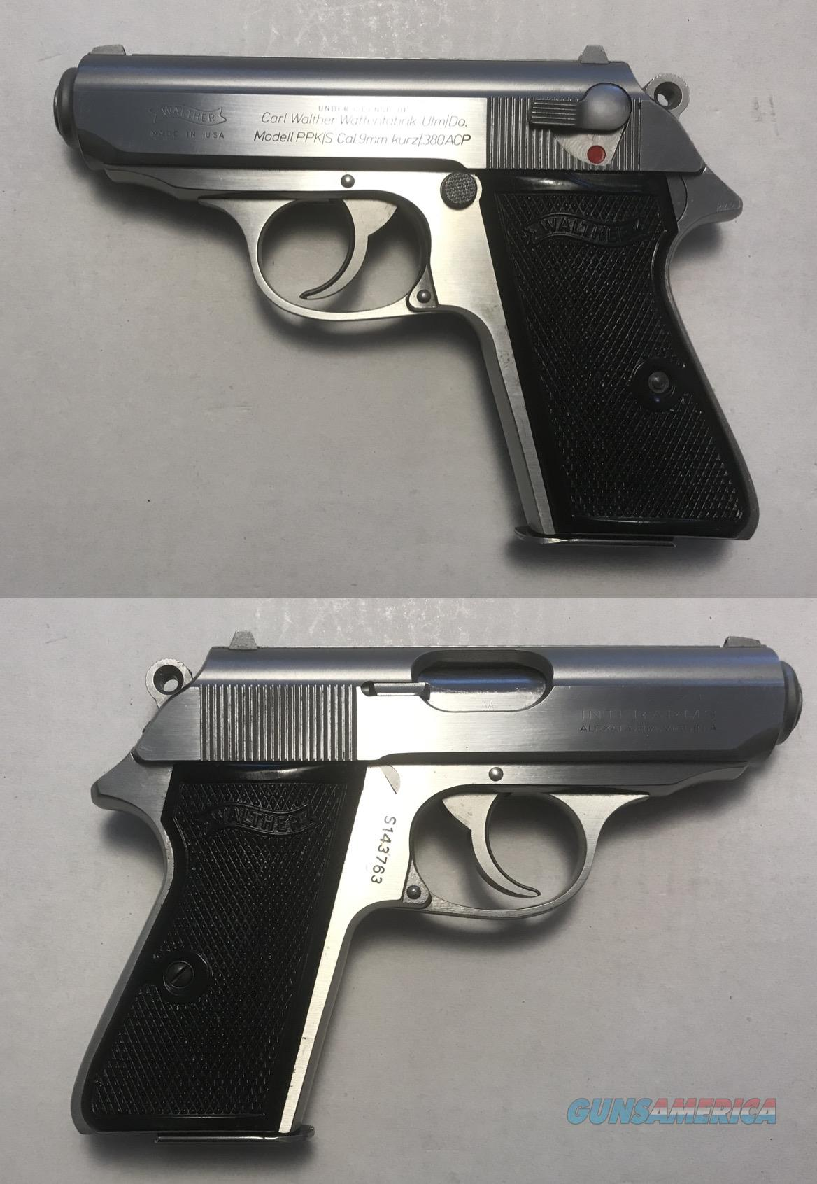 Walther/Interarms Model PPK/S Stainless .380  Guns > Pistols > Walther Pistols > Post WWII > PPK Series