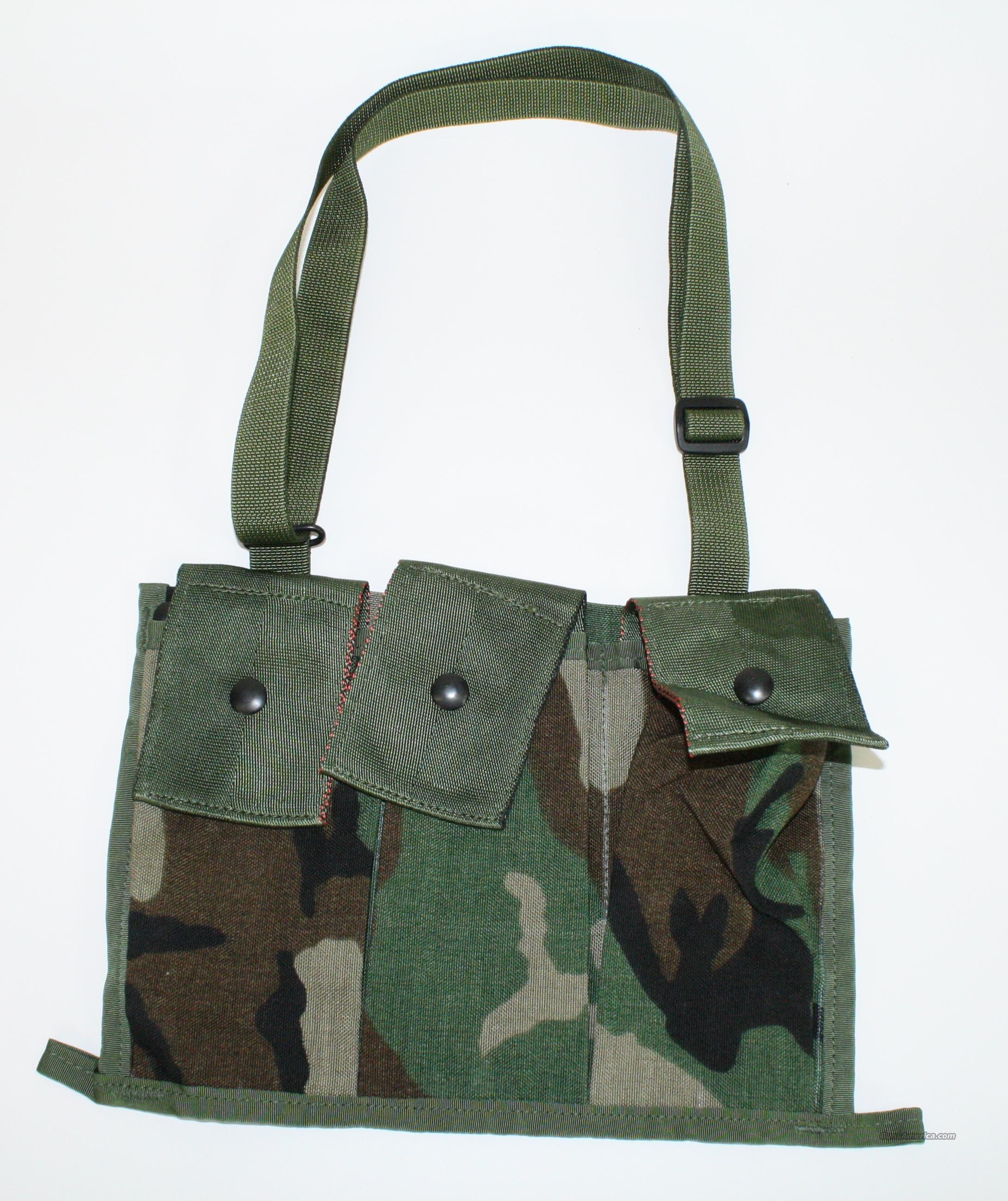 5 Each Woodland Camo Bandolier Magazine Pouch  Non-Guns > Tactical Equipment/Vests