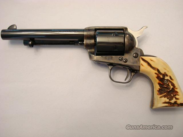 "Colt Single Action Army 44-40 Stag Grips 6"" 99%  Guns > Pistols > Colt Single Action Revolvers - 3rd Gen."