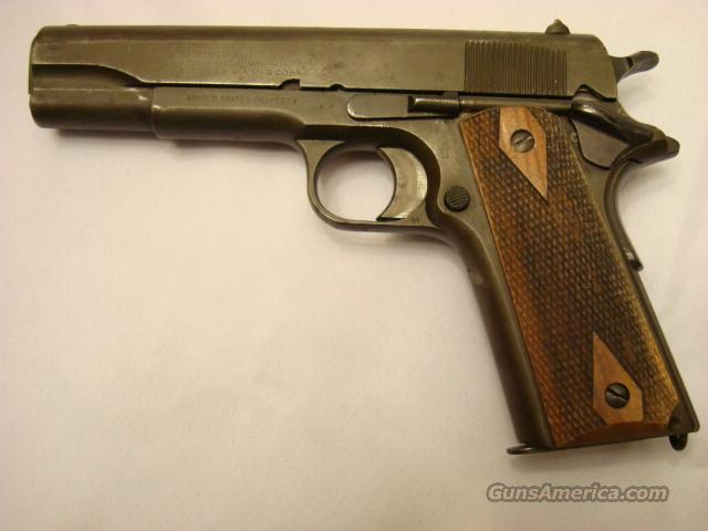 Colt 1911 WW I 45 YR. 1918 Great Cond. Parkerized  Guns > Pistols > Colt Automatic Pistols (1911 & Var)