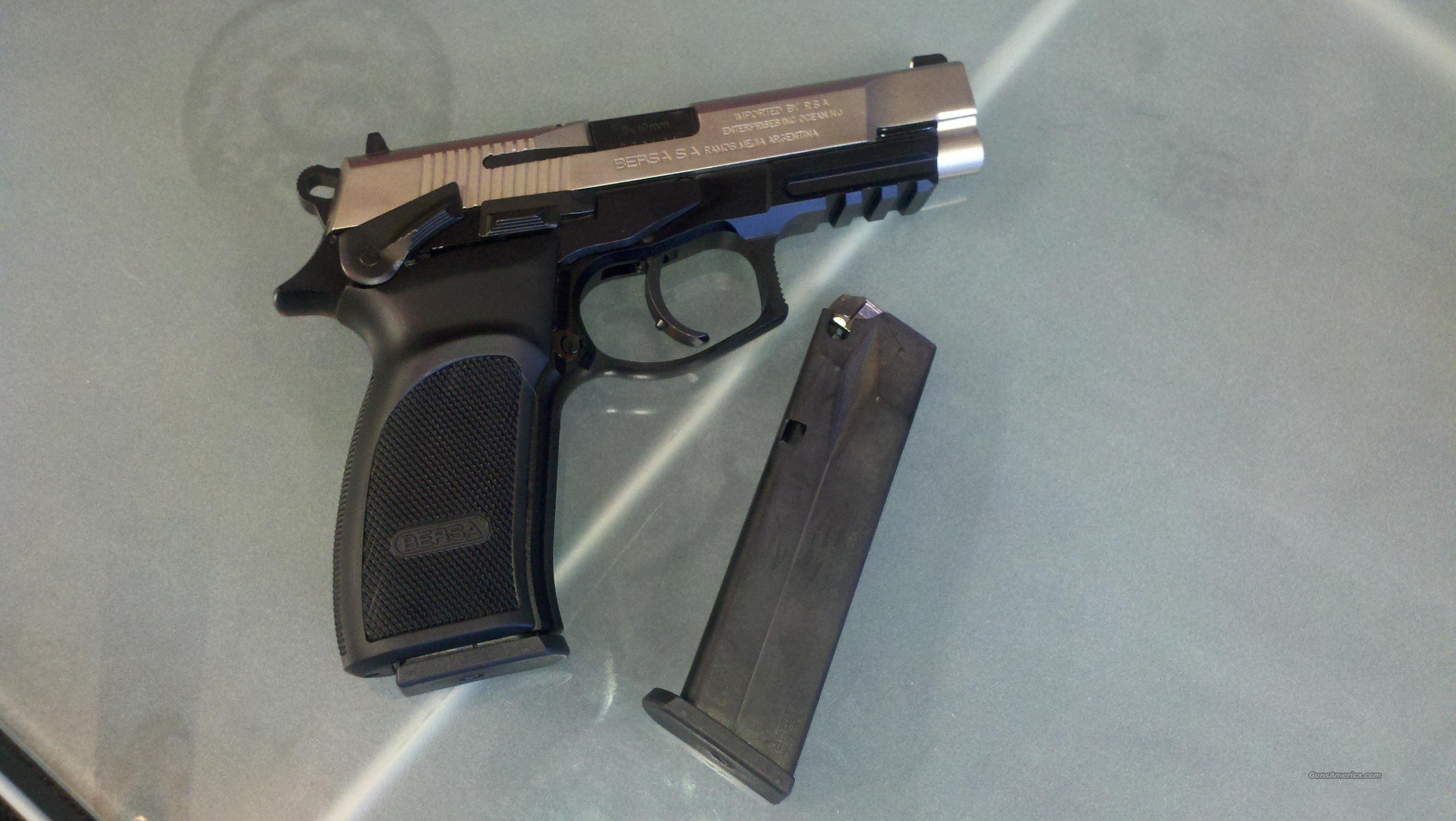 BERSA THUNDER 9 PRO DUO-TONE HIGH CAPACITY 9MM NEW  Guns > Pistols > Bersa Pistols