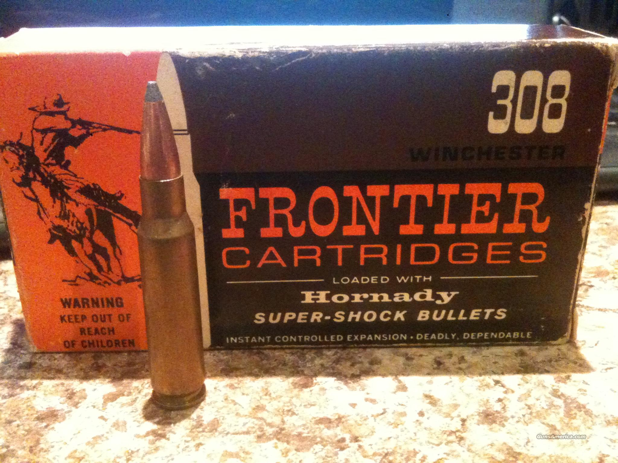 FRONTIER (308 WINCHESTER) CARTRIDGES  NEW IN THE BOX- VINTAGE AMMO  Non-Guns > Ammunition