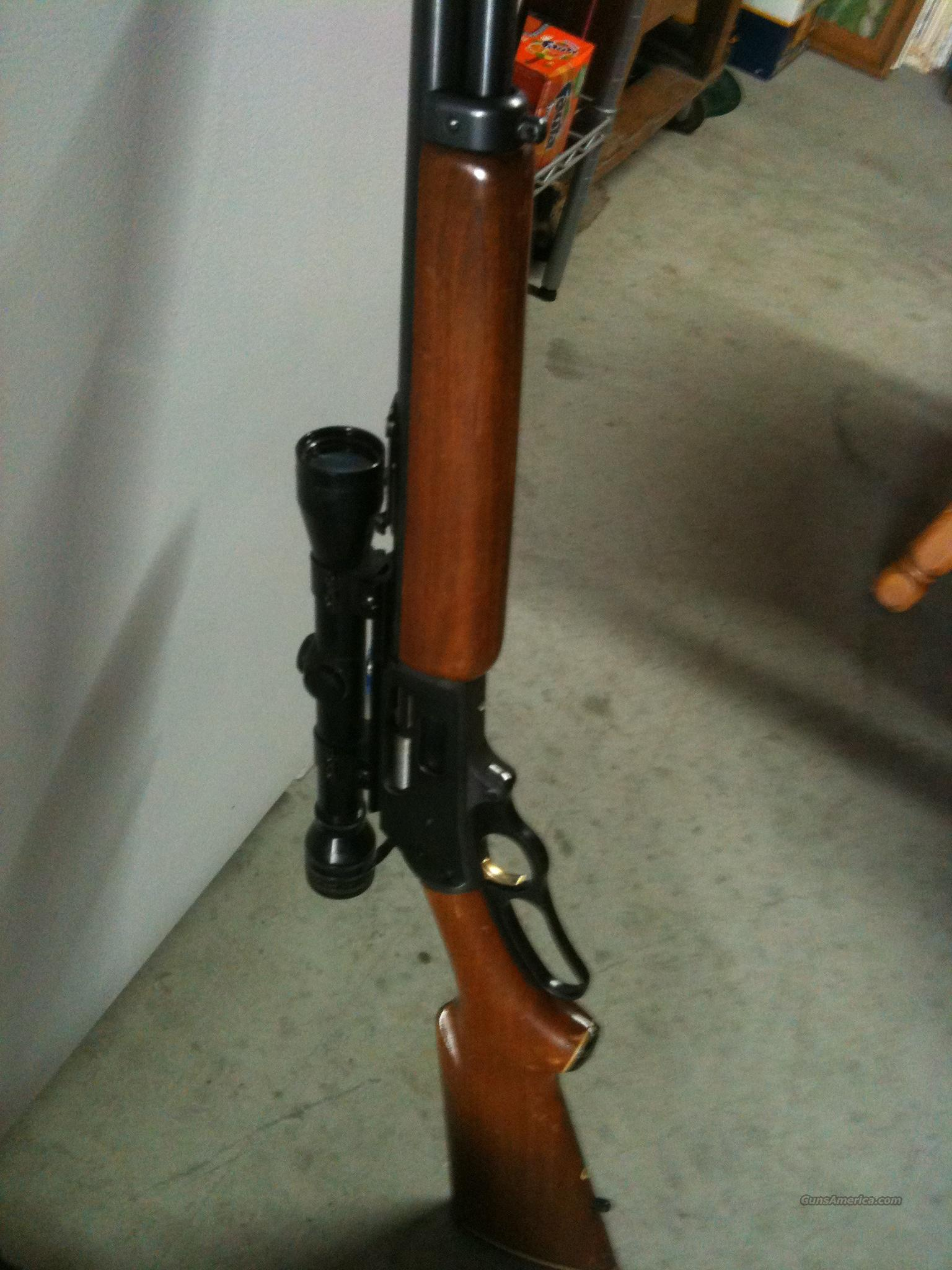 MARLIN 444 LEVER ACTION RIFLE WITH SCOPE  Guns > Rifles > Marlin Rifles > Modern > Lever Action