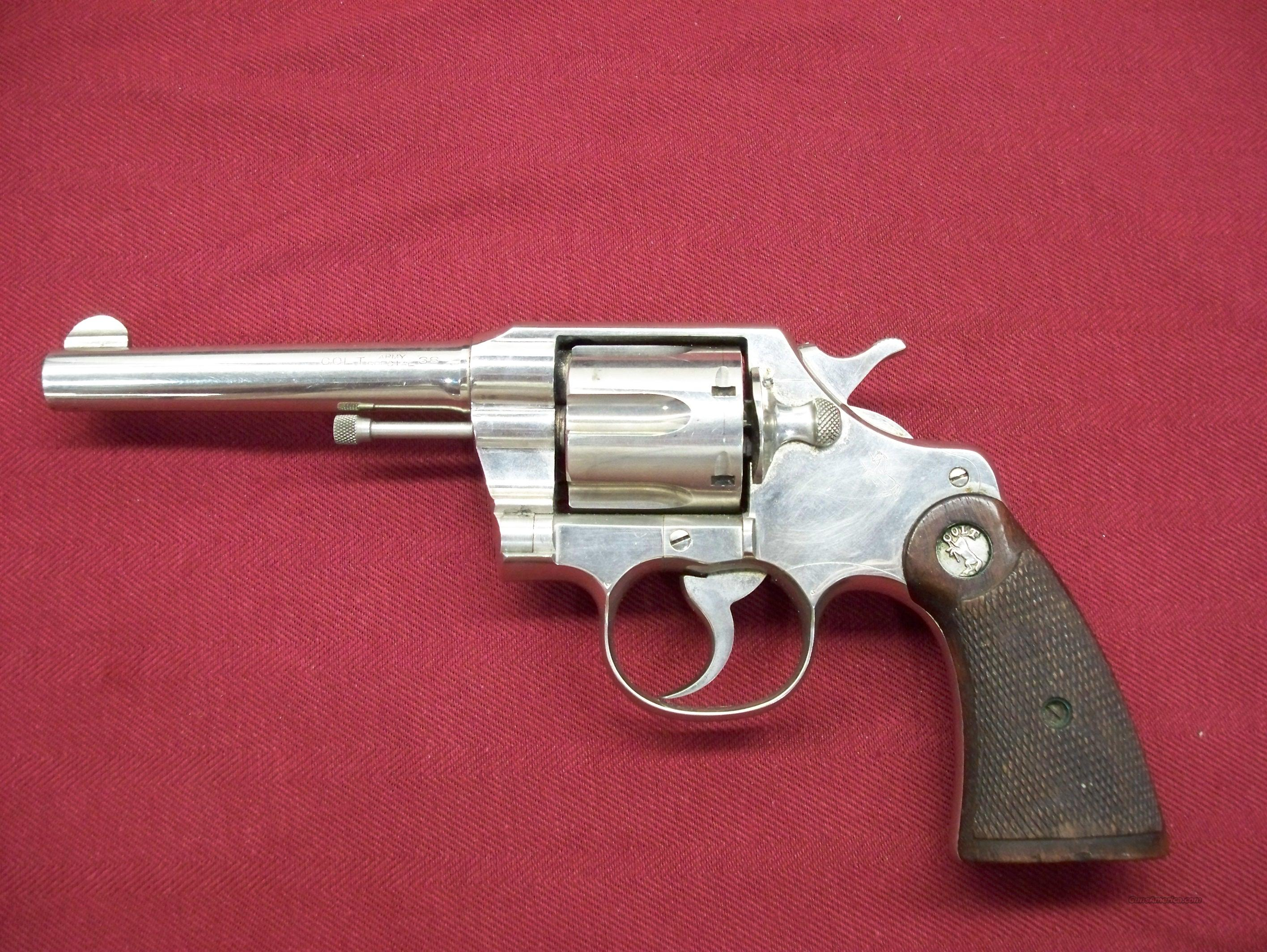 Colt Army Special .38 caliber Revolver  Guns > Pistols > Colt Double Action Revolvers- Pre-1945