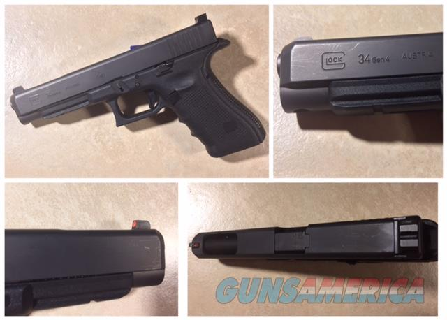Glock 34 9mm Gen 4 with Trijicon HD sights and holsters  Guns > Pistols > Glock Pistols > 34