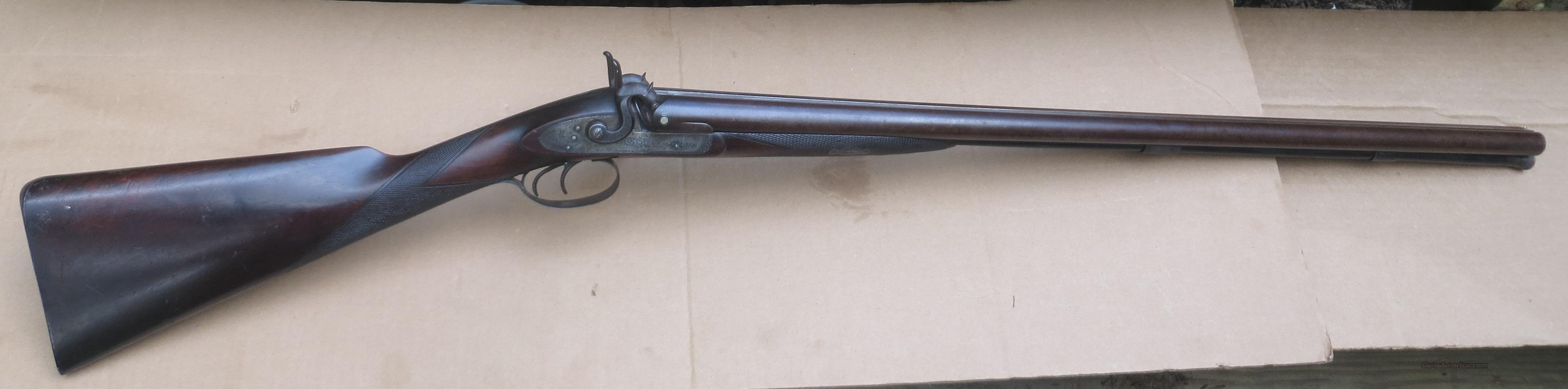 Moore & Harris 1864 Percussion 12 Ga Shotgun  Guns > Shotguns > Antique (Pre-1899) Shotguns - Misc.