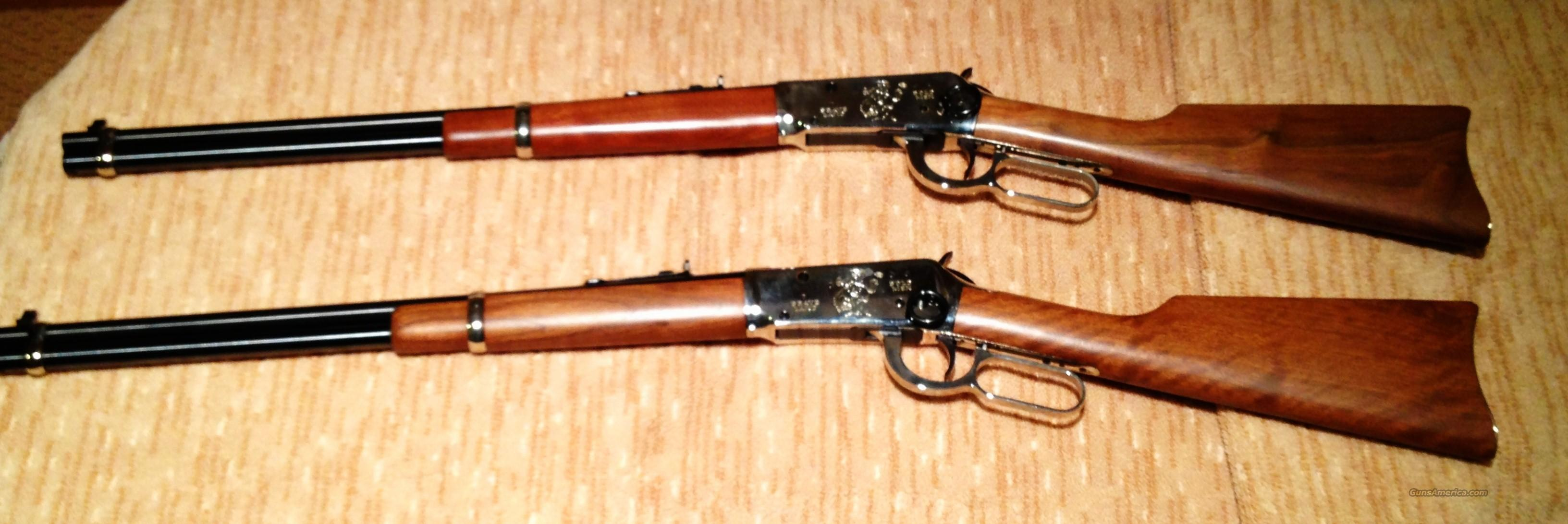 Set of 2 --- Cowboy Commemorative Winchester Model 94 30-30 Rifles  Guns > Rifles > Winchester Rifle Commemoratives