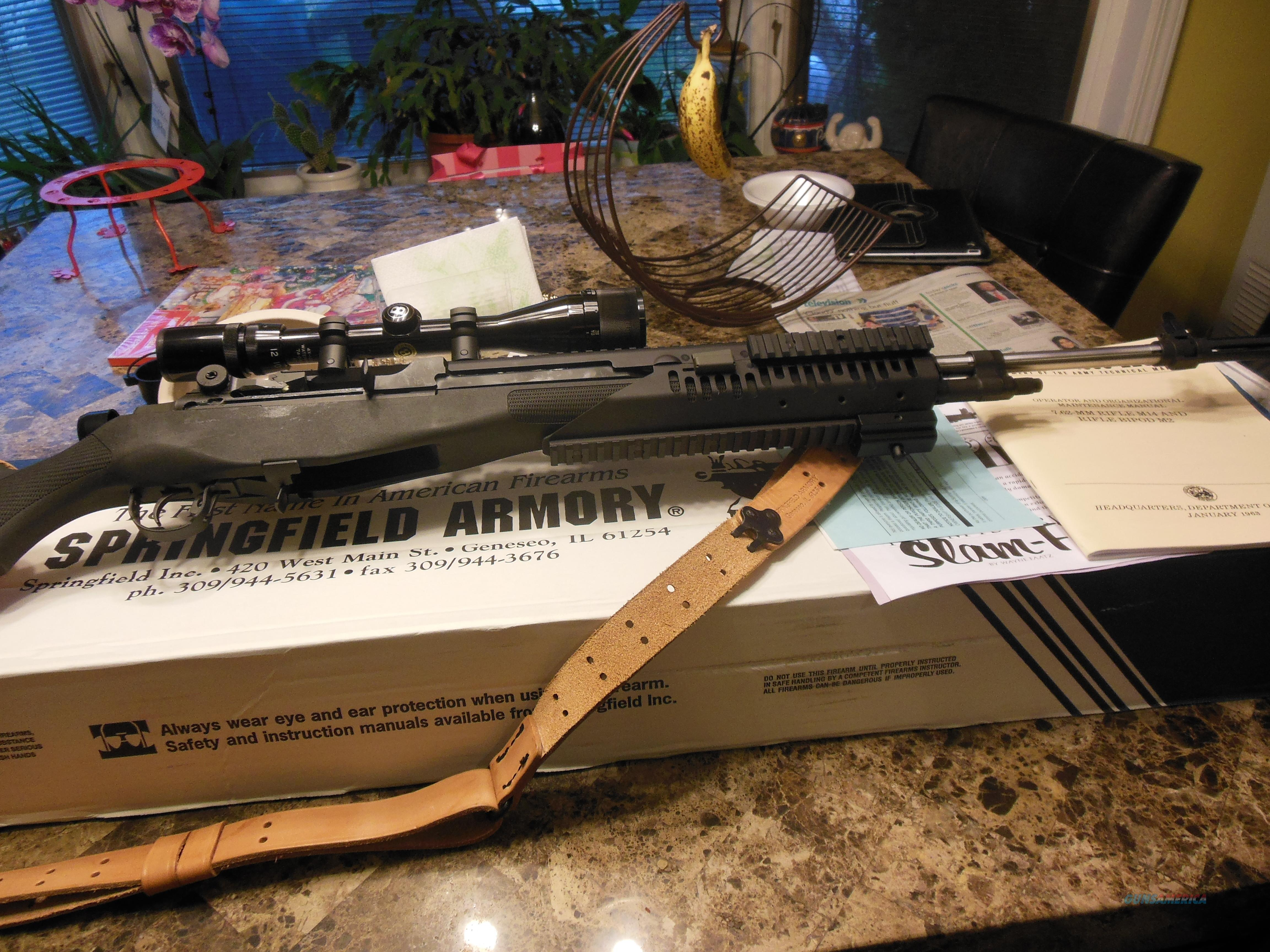 SPRINGFIELD ARMORY MA 9827 LOADED EXTENDE CLUSTER RAIL, NAT MATCH BARREL, NEW IN BOX, ALL PAPERS  Guns > Rifles > Springfield Armory Rifles > M1A/M14