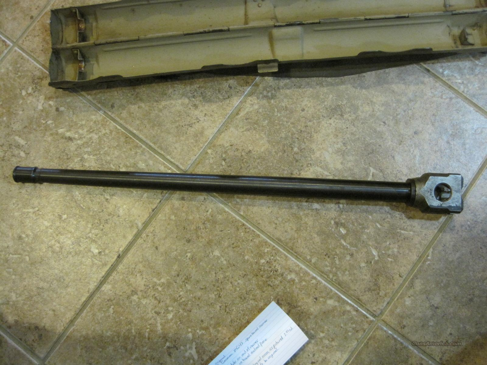 Original WWII German MG42 Spare Barrel with Carrier  Non-Guns > Gun Parts > Antique & Collector Parts > WWII > Germany