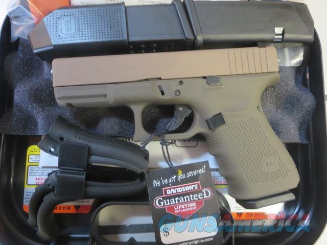 Glock 19 Gen4 9mm 15+1 3 mags Dark Earth and Patriot Brown Cerakote G19 Gen 4 NIB SALE !!   Guns > Pistols > Glock Pistols > 19/19X