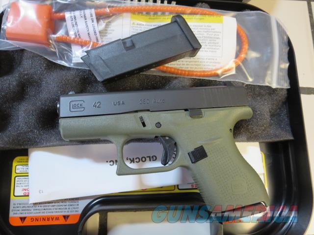 Glock 42 Battlefield Green .380 G42 BFG 2 mags SALE NIB UI4250201BFG  Guns > Pistols > Glock Pistols > 42