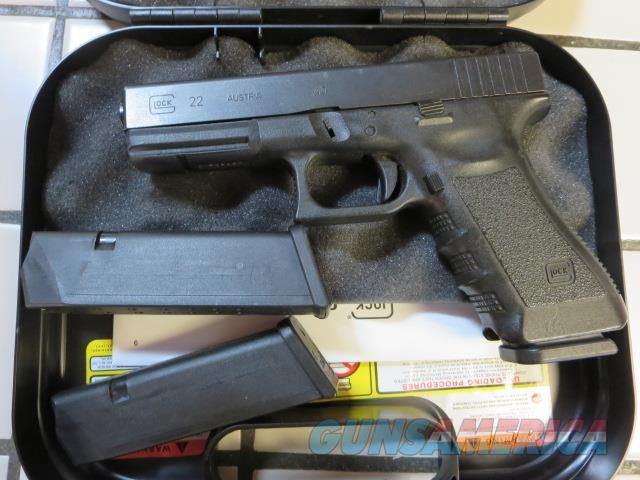 Glock 22 Gen3 G22 .40 USED VG CONIDITON 15+1 3 mags  Guns > Pistols > Glock Pistols > 22