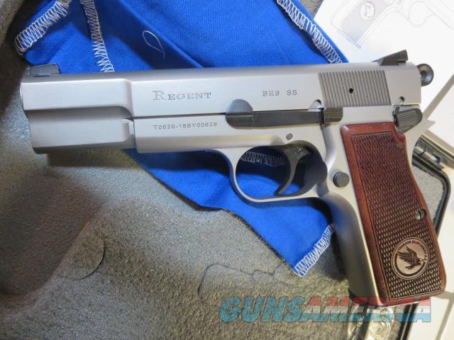 "Tisas Regent BR9 9mm Stainless 13+1 4.6"" NIB Browning Hi-Power Clone  Guns > Pistols > TU Misc Pistols"
