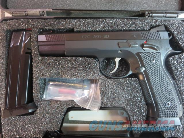 "CZ Custom Shop A01-SD 9mm 4.925"" 19+1 A01 SD 2 mags 91732 Match Grade   Guns > Pistols > CZ Pistols"