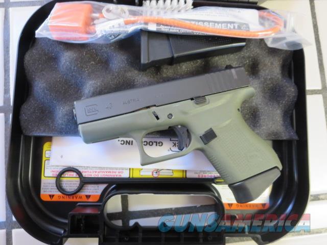Glock 43 9mm Battlefield Green Frame NIB 6+1 SALE G43 PI4350201BFG  Guns > Pistols > Glock Pistols > 43/43X