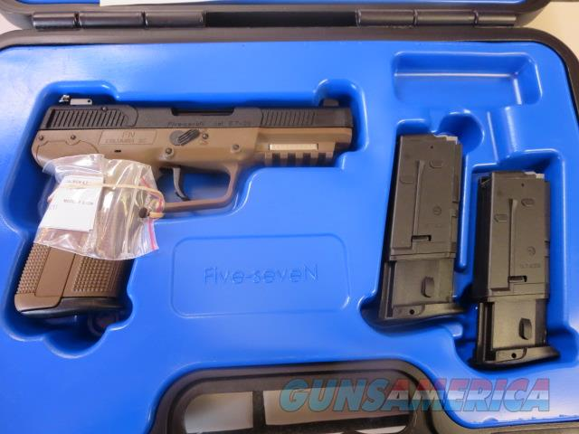 FNH Five-SeveN FDE 5.7x28 10+1 Adjustable Sights NIB 3 mags 3868929352 SALE PRICE No CC Fees  Guns > Pistols > FNH - Fabrique Nationale (FN) Pistols > FiveSeven