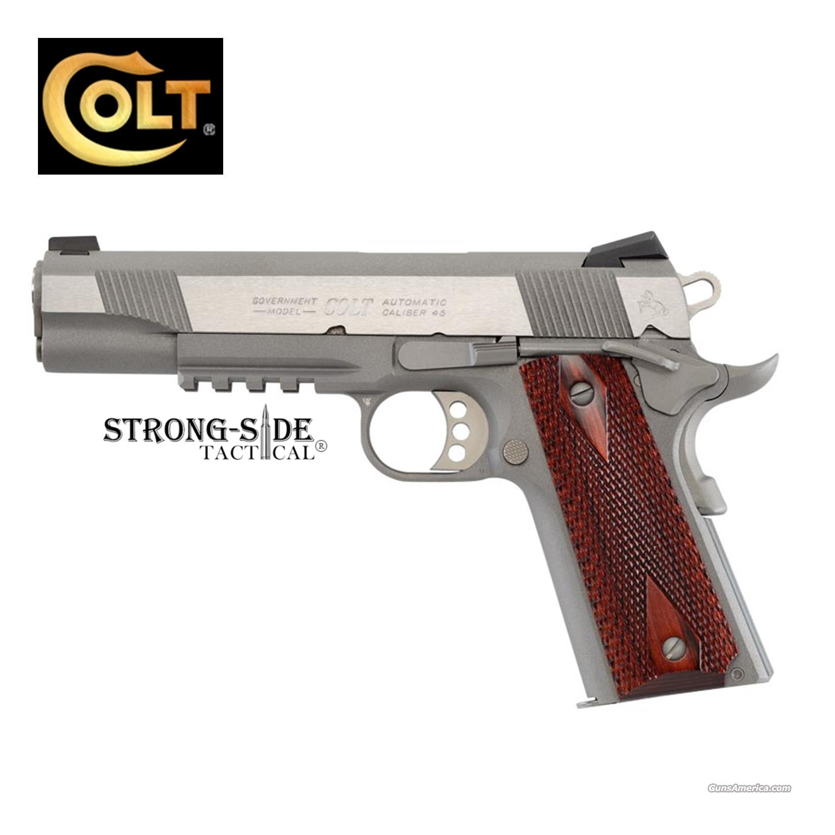 "Colt Rail Gun Stainless, Government Model 5"" .45ACP 1911 (free shipping, no upcharge for credit cards) Model O1070RG    Guns > Pistols > Colt Automatic Pistols (1911 & Var)"