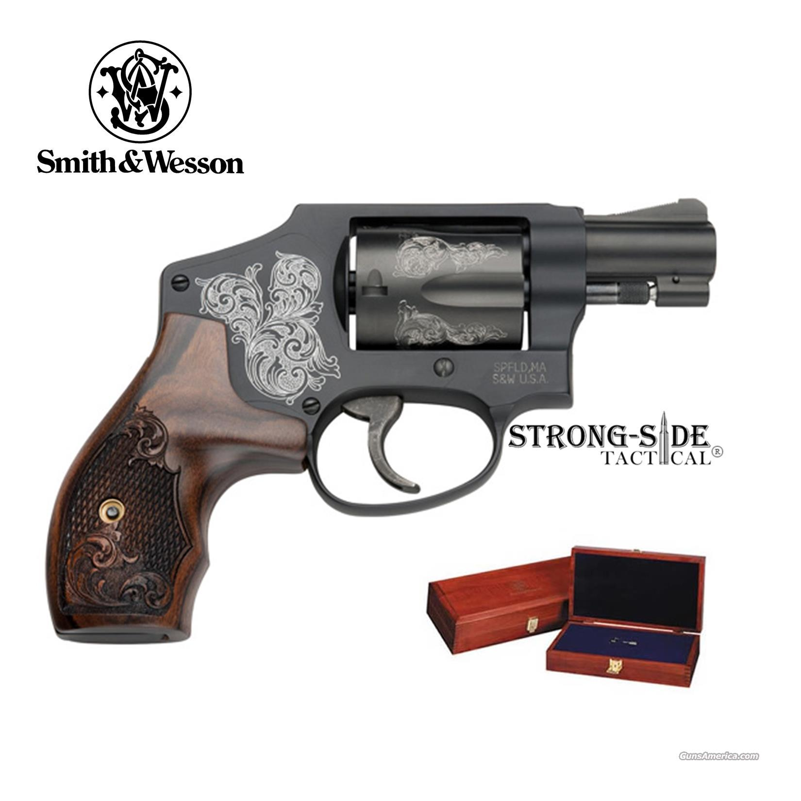 Smith & Wesson Model 442 Revolver- Machine Engraved .38 SPCL with Mahogany Presentation Case/Box (Ships FREE, no Credit Card Upcharge) LIMITED PRODUCTION, NO INTERNAL LOCK  Guns > Pistols > Smith & Wesson Revolvers > Performance Center