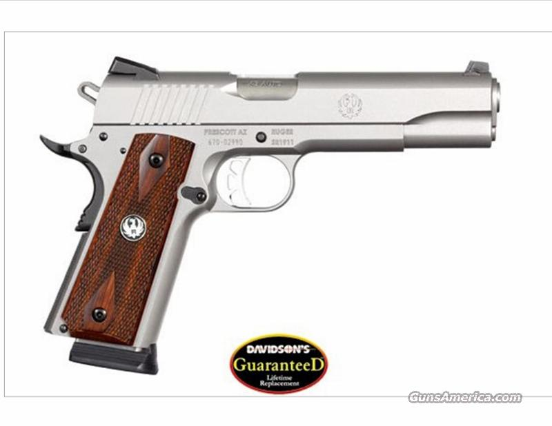 "Ruger SR1911 5""  .45 ACP Stainless Steel Finish w/Rosewood Grips  Guns > Pistols > 1911 Pistol Copies (non-Colt)"