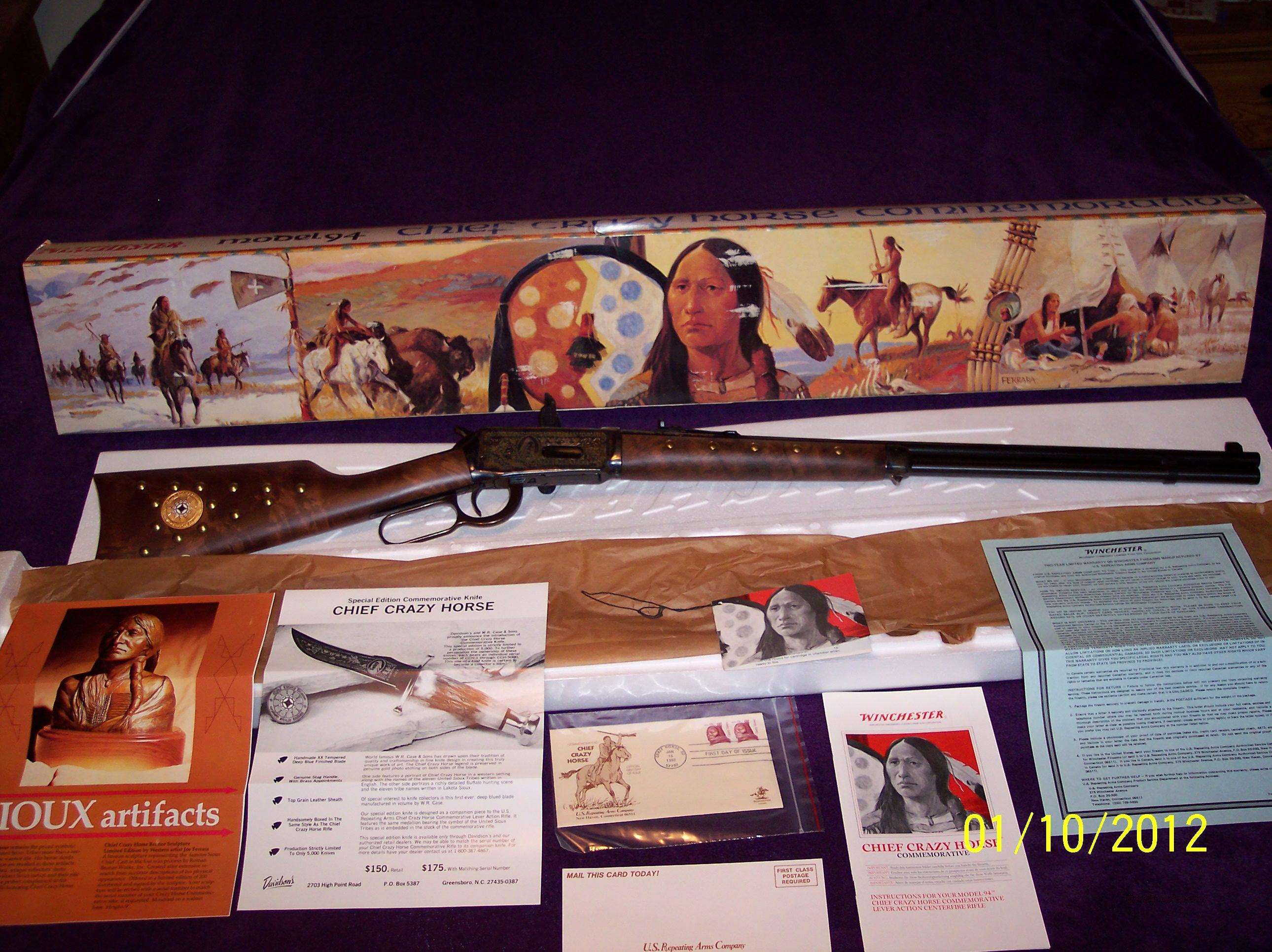 Chief Crazy Horse Commemorative  Guns > Rifles > Winchester Rifle Commemoratives