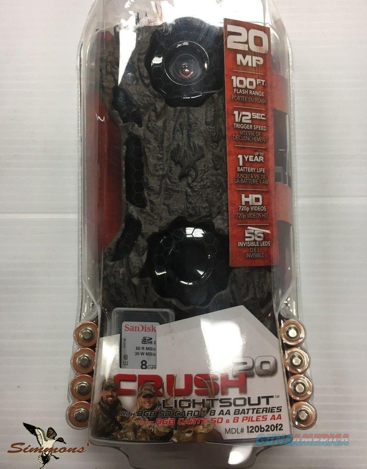 WildGame Innovations Crush 20 Lightsout Game Camera with 8GB card/batteries  Non-Guns > Electronics