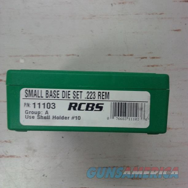 RCBS Small Base Die set .223 REM  Non-Guns > Reloading > Equipment > Metallic > Dies